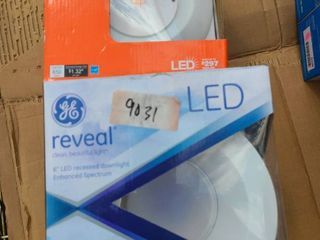 lot 6 verhead lED recessed downlights