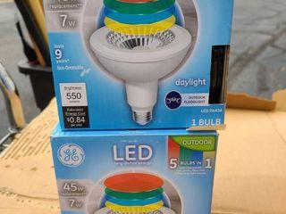 lot of 2 each lED 5 color flood lights
