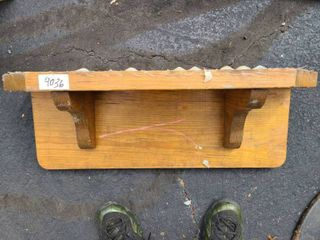 well made wood shelf