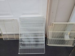 lot of 8 of misc plastic coated wire racks
