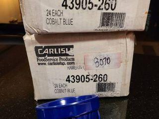 lot of cobalt blue ramekins  new