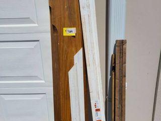 lot of wood shelves   trim