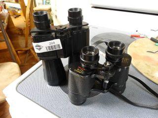 2 pairs of binoculars