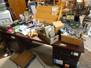 large office desk w  contents