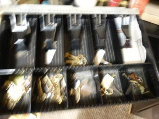 Cash drawer w  contents