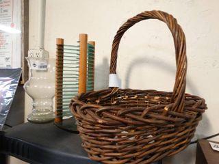 Basket  cd rack   vase