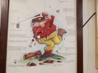 The golfer framed print