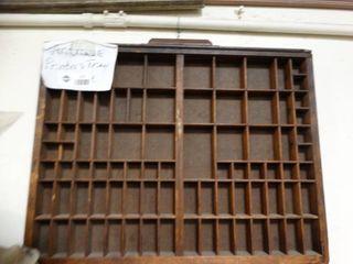 Old wood printers drawer
