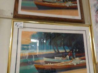 2 framed prints  signed   numbered