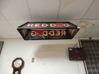 Red dog pool table light