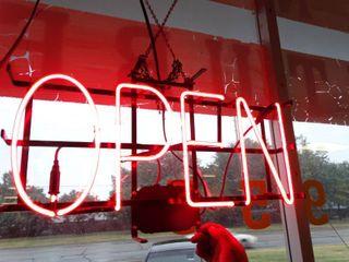 Neon OPEN sign  Works
