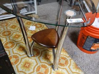 Modern glass top end table