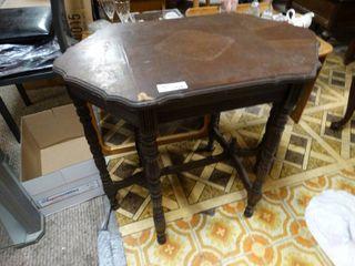 Vintage wood lamp table
