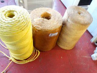 3 large rolls of twine