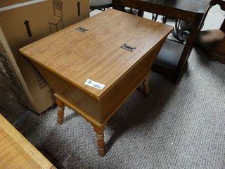 Wooden Flip Top Side Table