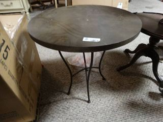 Round Bistro Table with Metal legs