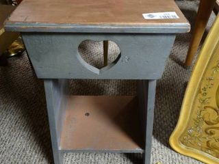 Small Decorative Table with Heart Cut Out