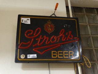 Stroh s Beer Neon Sign