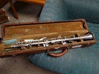 Vintage Metal Clarinet in Case