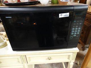Clean Black Tappan Microwave