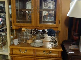 Pacific Frames Ind  Wooden China Cabinet  Contents not Included