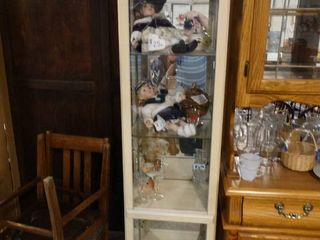 Small Off White Display Cabinet  Contents not Included