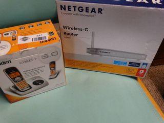 Netgear Wireless G Router and Uniden Digital Telephone 6 0