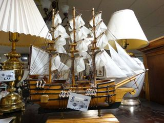 Awesome sailboat ship display