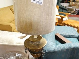 Table lamp with Metal Base and New Shade