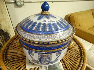 Ceramic Ornate Canister