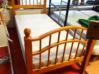 New twin size bed  Headboard  footboard  rails   box spring