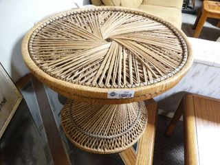 Small Wicker Side table