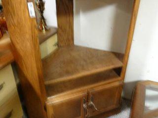 Solid Wood Corner Media Cabinet
