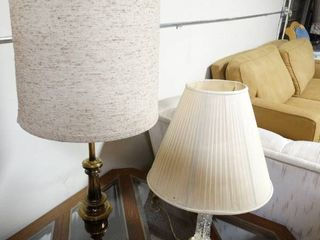 lot of Two Mismatched Table lamps