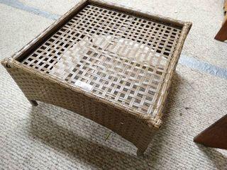 Plastic Wicker Patio Table