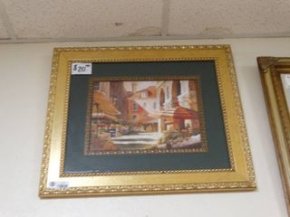 Framed Print in a Gold Frame