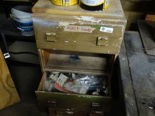 Small Chest of Drawers with Assorted Hardware