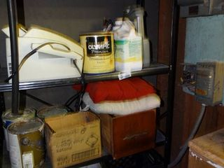 lot of Home Improvement Supplies  Paint  Misc  Hardware  Etc