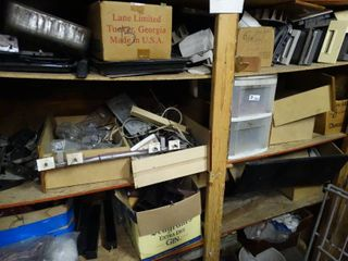 lot of Scrap Wood Pieces and Misc  Hardware
