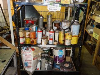 lot of Misc  Epoxies and Adhesives w  Work light