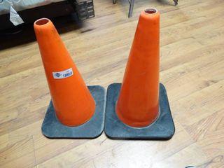 2 safety cones