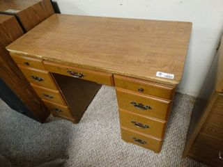 Small Wooden Desk with lots of Drawers