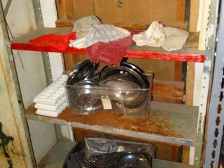 lot of Misc  Kitchen Items  GE Can Opener  Towels  Stove Burner Drip Pans  Etc