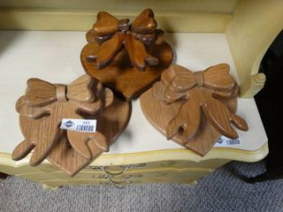 Wooden Hearts with Bows