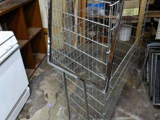 Metal Floor Sign and large Metal Wire Basket