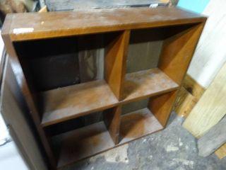 Wooden 4 Cubby Shelf