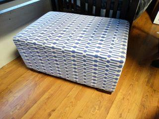 large purple foot stool