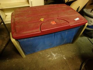 Plastic Toy Chest with Toys