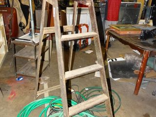 5 Step Wooden ladder