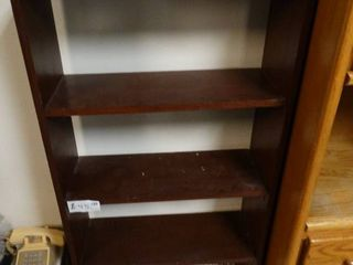 Nice dark 3 shelf book shelf